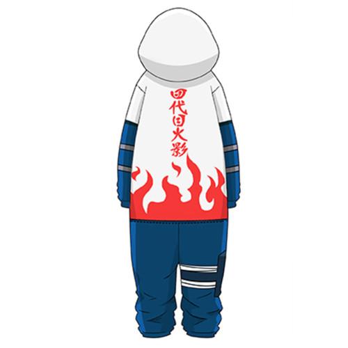 Naruto Namikaze Minato Pajamas Druck langarm Schlafanzug für Alltag