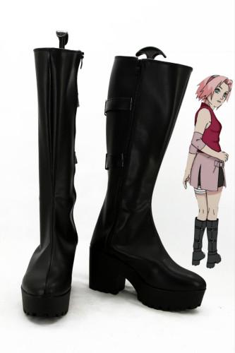 Naruto Haruno Sakura Stiefel Cosplay Schuhe