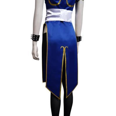 Street Fighter(SF) Chun Li Cosplay Kostüm Cheongsam Halloween Karneval Outfits