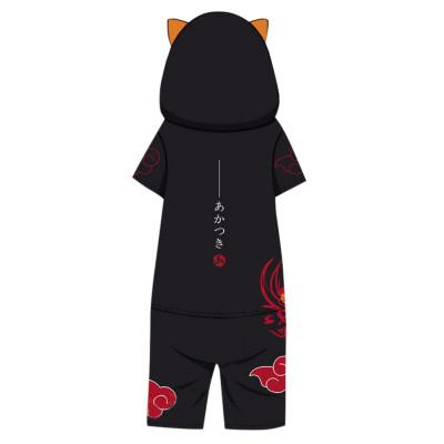 Naruto Akatsuki Pajamas Feuerschatten Druck Naruto Akatsuki Sommer Kurzarm Schlafanzug für Alltag