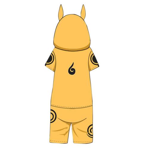 Naruto Uzumaki Naruto Pajamas Feuerschatten Druck Naruto Akatsuki Sommer Kurzarm Schlafanzug für Alltag