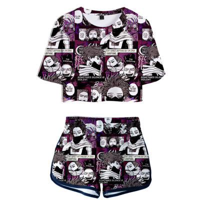 Shinso Hitoshi My Hero Academia 3D Druck Sommer T Shirt Shorts 2tlg Set