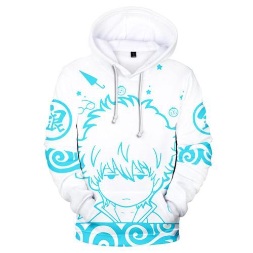 Anime Gin Tama Cosplay Hoodie 3D Druck Sweatshirt Pullover Pulli für Erwachsene
