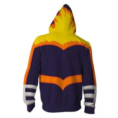 Anime My Hero Academia Boku no Hero Akademia Enji Todoroki Endeavor Hoodie Jacke mit Reißverschluss Pullover mit Kaputze Sweatshirt