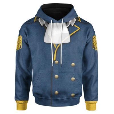 Attack on Titan Cosplay Hoodie 3D Druck Sweatshirt Erwachsene Pullover mit Kaputze