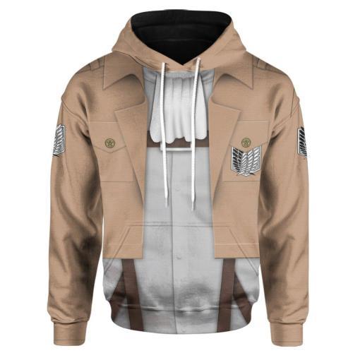 Attack on Titan Cosplay Hoodie 3D Druck Sweatshirt Kaputzpullover für Alltag Erwachsene Pulli