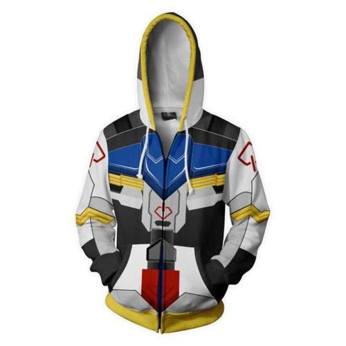 Anime Gundam Hoodie Hooded Barbatos Jacke mit Reißverschluss Hooded für Erwachsene