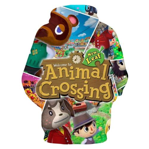 Animal Crossing Druck Hoodie Erwachsene Hooded Sweatshirt Pullover mit Kaputz Pulli