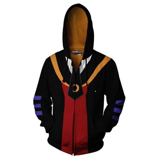 Assassination Classroom Hoodie Pullover mit Kaputze Jacke mit Reißverschluss Erwachsene 3D Druck