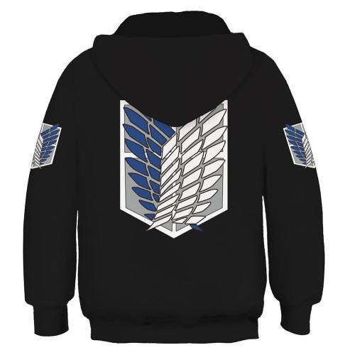 Attack on Titan Kinder Hoodie 3D Druck Sweatshirt Pullover mit Kaputze für Kinder