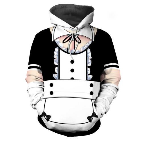Anime K-On! Pulli Diestmädchen Cosplay Hoodie 3D Druck Sweatshirt Erwachsene Pullover mit Kpautze