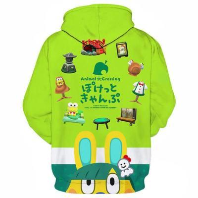 Animal Crossing Druck Hoodie Top Erwachsene Hooded Sweatshirt Pullover mit Kaputze Pulli