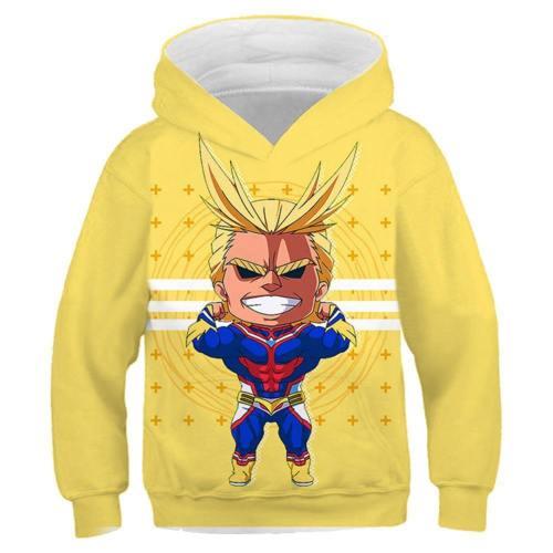 All Might Boku no Hero Akademia My Hero Academia Pulli Hooded Hoodie Pullover mit Kaputze Sweatshirt für Kinder Jungen Mädchen
