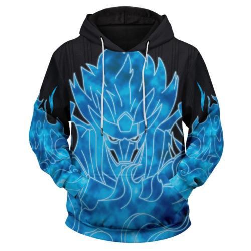 Naruto Cosplay Hoodie Hooded Sweatshirts Pullover mit Kaputze Blau Erwachsene