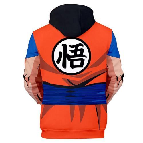 Anime Hoodie Dragon Ball Hooded Sweatshirts Pullover mit Kaputze Erwachsene