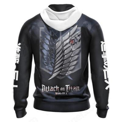Attack on Titan Hoodie SCOUTING LEGION For the Glory of Humanity Druck Sweatshirt Erwachsene Pullover