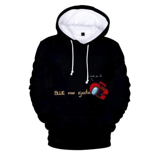 Among Us Cosplay Hoodie 3D Druck Sweatshirt Pullover mit Kaputze
