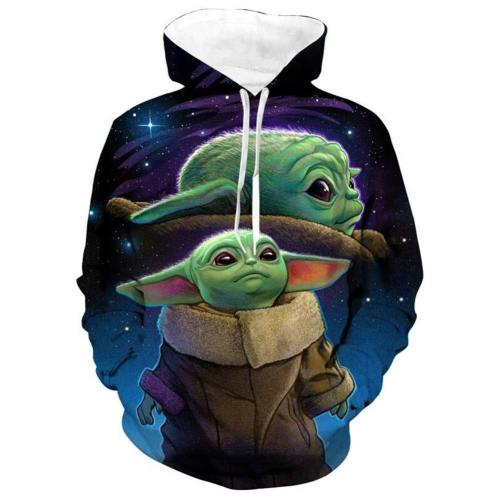 Baby Yoda The Mandalorian Star Wars Yoda Hoodie Pullover mit Kaputze Pulli Kaputzepullover Erwachsene 3D Druck