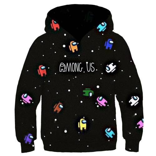 Kinder Among us Hoodie 3D Druck Kinder Sweatshirt Kinder Pullover mit Kaputze für Alltag