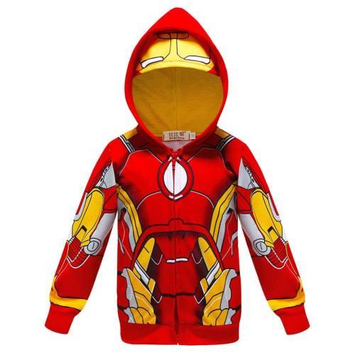 Avengers Iron Man Hoodie Jacke mit Reißverschluss Pullover mit Kaputze ür Kinder Jungen Mädchen