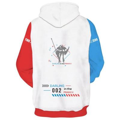 Hoodie Darling In The Franxx 02 Zero Two Cosplay Hooded Sweatshirt Pullover Unisex Pullover mit Kaputze Version B