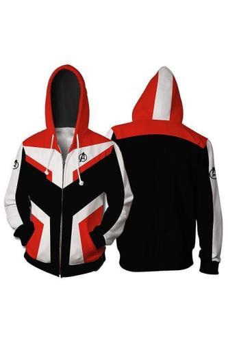 Avengers 4 Endgame Avengers: Infinity War - Part II Hoodie Jacke mit Reißverschluss Pullover mit Kaputze Sweatshirt
