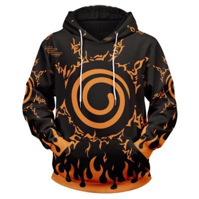 Naruto Cosplay Hoodie Pulli Hooded Sweatshirts Pullover mit Kaputze Orange für Erwachsene