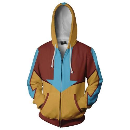 Avatar The Last Airbender Jacke Die Legende von Aang Hoodie Cosplay Unisex Jacke Pullover mit Kaputze