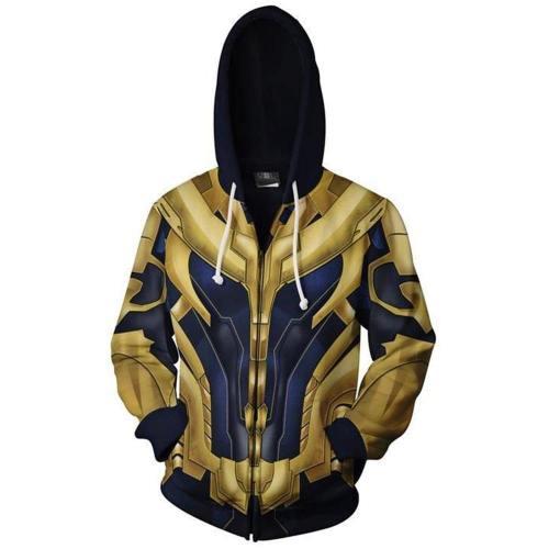 Avengers 4 Avengers: Endgame Thanos Hoodie Pullover mit Kaputze Jacke mit Reißverschluss Erwachsene 3D Druck