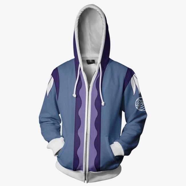 Avatar: the last Airbender Katara Cosplay Hoodie Erwachsene 3D Druck Hooded Jacke Sweatshirt