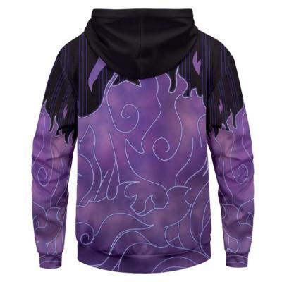 Naruto Cosplay Hoodie Hooded Sweatshirts Pullover mit Kaputze Lila für Erwachsene