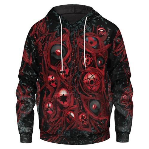 Naruto Cosplay Hoodie Hooded Sweatshirts Pullover mit Kaputze für Erwachsene Pulli
