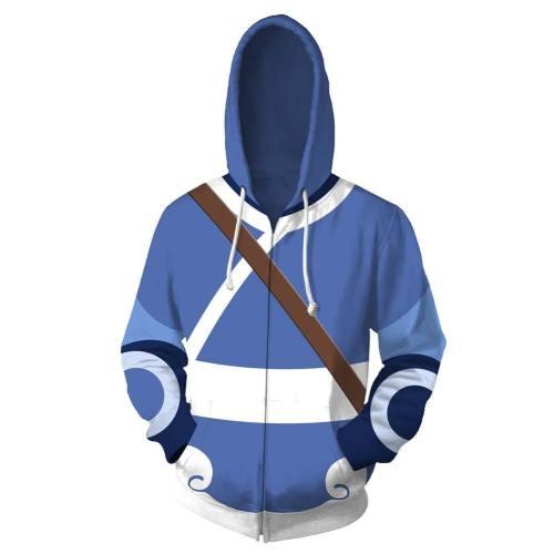 Avatar The Last Airbender Katara 3D Druck Hoodie Sweatshirt Jacke Hooded Pullover für Erwachsene