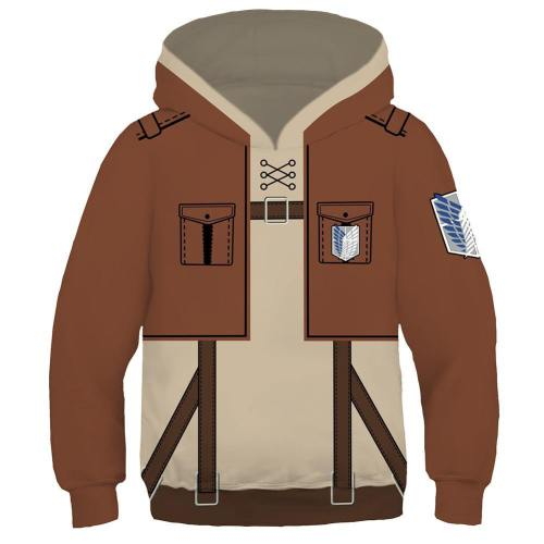 Attack on Titan Cosplay Hoodie Kinder Hooded Sweatshirt Pullover mit Kaputze