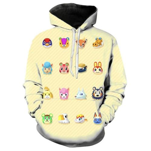 Animal Crossing Village Druck Hoodie Top Erwachsene Hooded Sweatshirt Pullover