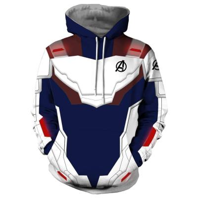 Avengers 4 Endgame Avengers: Infinity War - Part II Hoodie Pullover mit Kaputze Sweatshirt Quantenreich Suit Quantum Realm Suit Blau Version