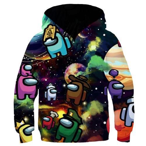 Among us Cosplay Hoodie 3D Druck Sweatshirt Kinder Pullover mit Kaputze für Kinder Alltag