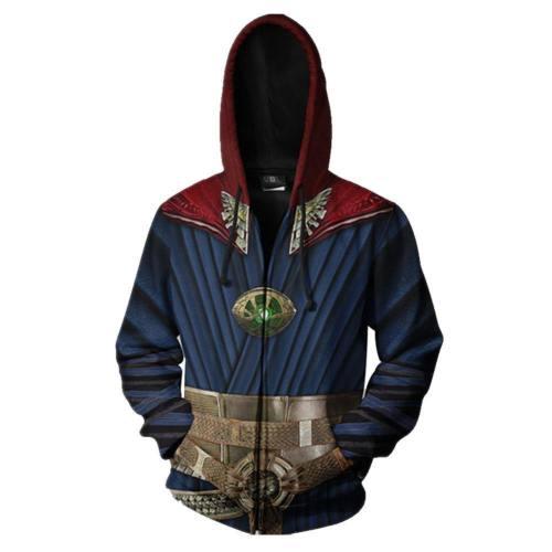 Avengers Doctor Strange Dr.Stephen Benedict Cumberbatch Hoodie Pullover mit Kaputze Jacke mit Reißverschluss Erwachsene 3D Druck