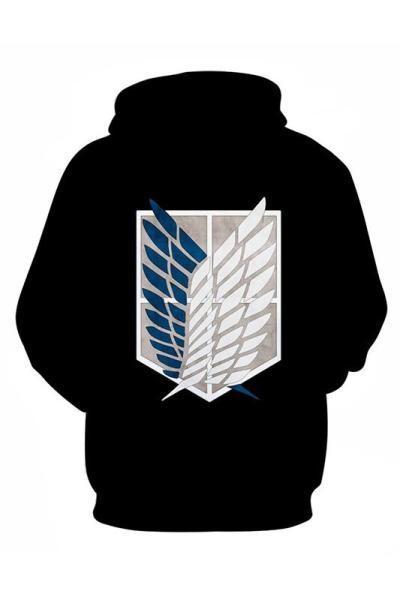 Attack On Titan Shingeki No Kyojin Aufklärungstrupp 3D Druck Sweatshirt Erwachsene Pullover mit Kaputze Unisex Pulli