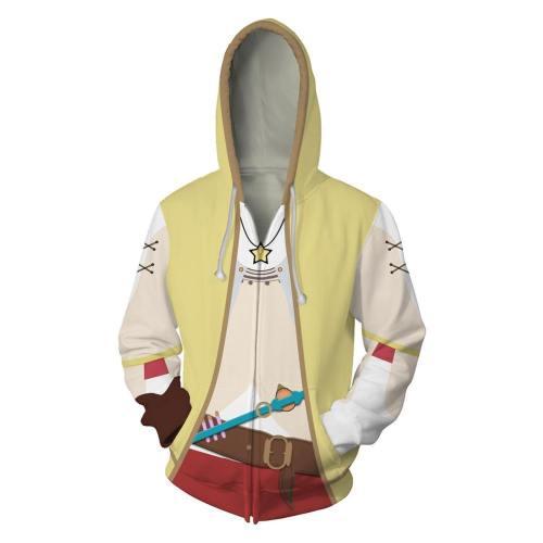Atelier Ryza: Ever Darkness & the Secret Hideout Hoodie Jacke mit Reißverschluss Pullover mit Kaputze Sweatshirt