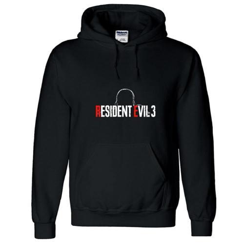3D Druck Hoodie Resident Evil 3 Black Hooded Sweatshirt Baumwolle Kaputzepullover