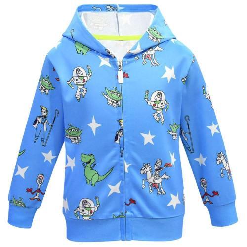 A Toy Story: Alles hört auf kein Kommando Woody Buzz Lightyear Hoodie für Kinder Jacke mit Reißverschluss Blau