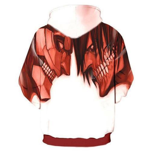 Attack on Titan Cosplay Hoodie 3D Printed Sweatshirt Men Casual Streetwear Pullover