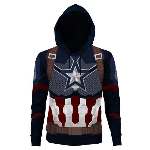 Avengers 4 : Endgame Captain America Steve Rogers Hoodie Pullover mit Kaputze Erwachsene