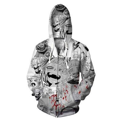 Ahegao O-Face Hoodie Pullover mit Kaputze Pulli Kaputzepullover Sweatshirts Jacke Erwachsene 3D Druck