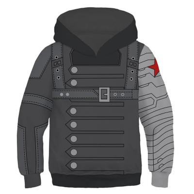 Avengers Infinity War Cosplay Kostüm Winter Soldier Bucky Barnes Hoodie Kaputzpullover Hooded Pulli für Kinder