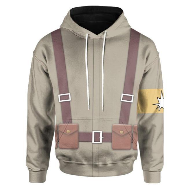 Attack on Titan Cosplay Hoodie 3D Druck Sweatshirt Erwachsen Kaputzepullover für Alltag