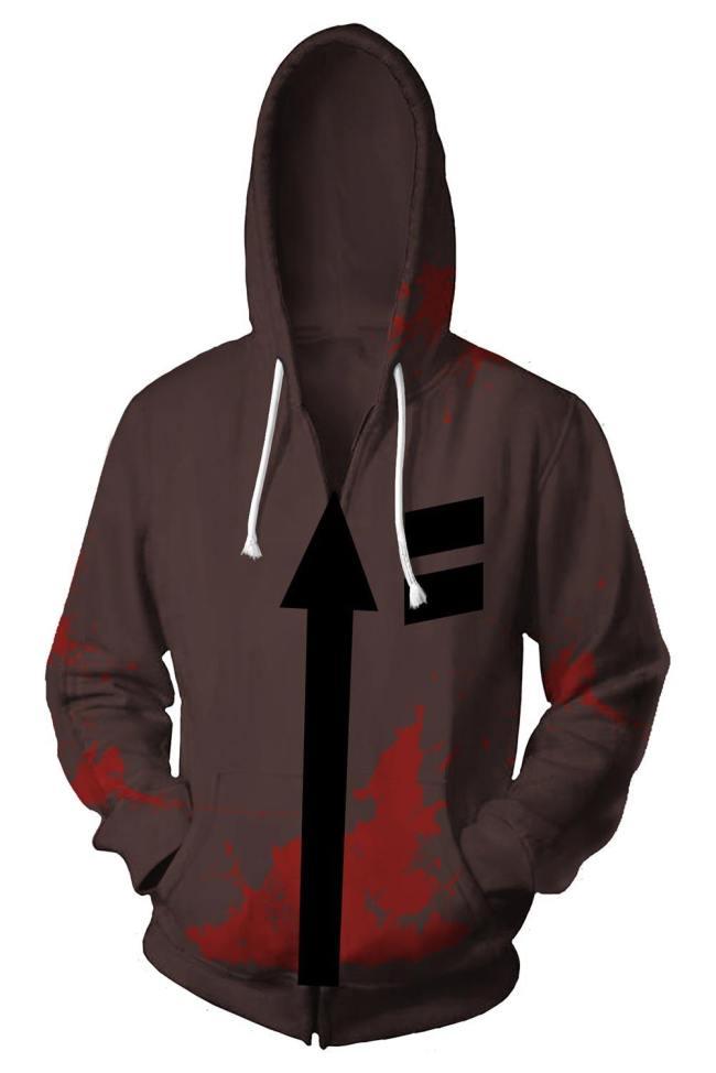 Angels of Death Engel des Todes Cosplay Kostüm Zack Hoodie mit Kaputze Reißverschluss