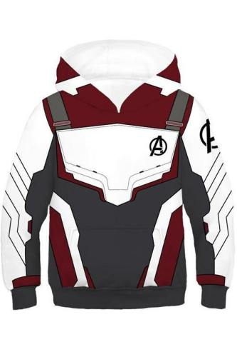 Avengers 4 Endgame Avengers: Infinity War - Part II Hoodie Pullover mit Kaputze Sweatshirt für Kinder Jungen Mädchen Quantenreich Suit Quantum Realm Suit