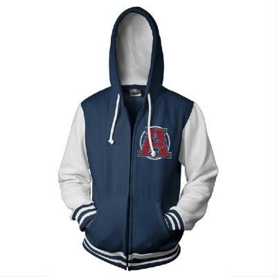 Avengers A - Logo Hoodie Jacke mit Reißverschluss Pullover mit Kaputze Sweatshirt